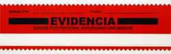 security tape seal, red