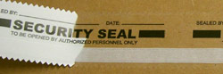clear security tape seal