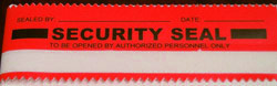 red security tape seal