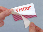 visitor badge assembly
