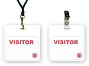 vistor badges backer with clips lanyards